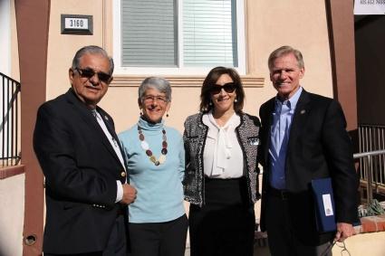 From left to right: Ventura County Supervisor John Zaragoza, CA State Senator Hannah-Beth Jackson, VCFCJ Foundation Chair Angela Cabrera, and Ventura County District Attorney Gregory D. Totten.